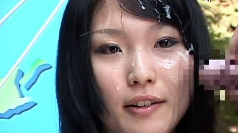 ジュニアアイドル顔射